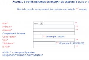demande de rachat de crédit unifinance