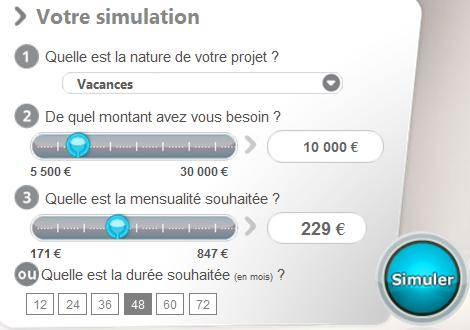 simulation crédit financo