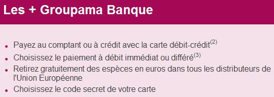 groupama banque avantages