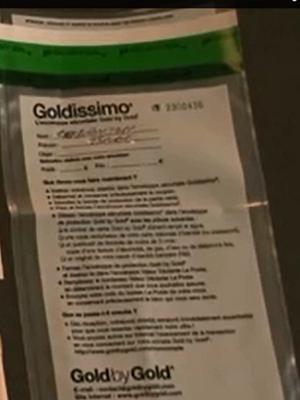 Goldissimo enveloppe sécurisé GoldbyGold