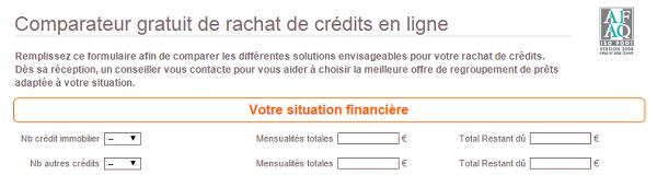 comparateur de solution de rachat de crédit en ligne