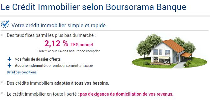 rachat de crédit Boursorama immobilier