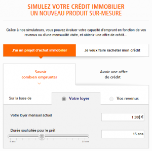 simulation prêt immobilier ING Direct