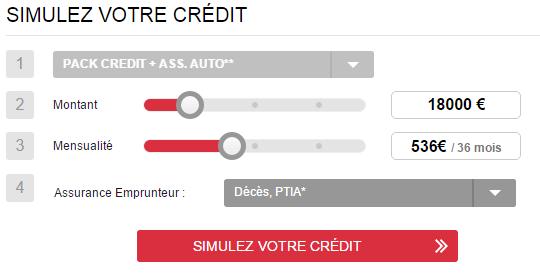 simulation crédit auto maaf