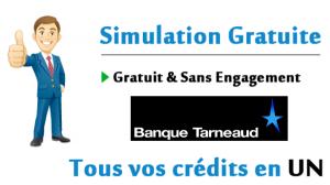 simulation rachat de crédit Banque Tarneaud