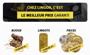 rachat d'or Lingor en ligne