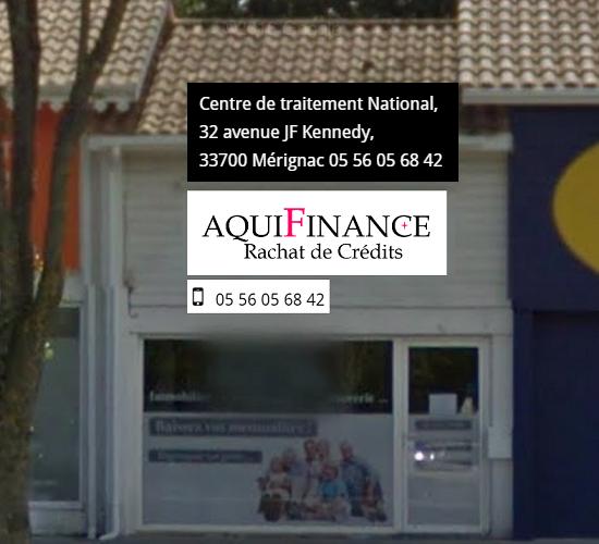 Aquifinance rachat de crédit Bordeaux