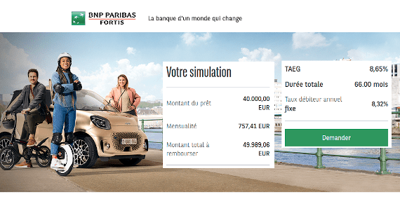 simulation rachat de credit Fortis