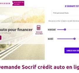 Demande Socrif crédit auto